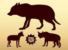 Wolf Silhouettes Free Vector Wolf Silhouette, Silhouette Clip Art, Free Vector Images, Vector Free, Nature Vector, Zoo Animals, Sea Creatures, Vector Design, Art Images