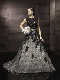 Black and white wedding dress Moonlight Bridal J6298 Tradesy Weddings (formerly Recycled Bride), the world's largest wedding marketplace. Price $500...Could You Get it For Less? Click Now to Find Out!