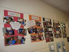 Classroom timeline displayed in the hallway so that parents/administrators/visitors can see what we have been up to!
