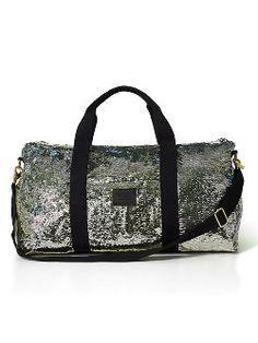 Victorias secret PINK sequin gold and black duffle Black and gold duffle PINK Victoria's Secret Bags Travel Bags Pink Bling, Pink Sequin, Silver Sequin, Pink Sparkly, Duffle Bag Travel, Duffel Bags, Travel Bags, Travel Luggage, Glitter Make Up