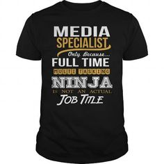 MEDIA SPECIALIST NINJA NEW T Shirts, Hoodies, Sweatshirts. GET ONE ==> https://www.sunfrog.com/LifeStyle/MEDIA-SPECIALIST--NINJA-NEW-Black-Guys.html?41382