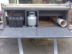 a look around my camper trailer Dirk's DIY camper trailer Toy Hauler Camper, Diy Camper Trailer, Off Road Trailer, Tent Campers, Diy Roof Top Tent, Diy Tent, Camping, Camper Ideas, Travel Trailers