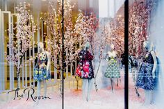 Mary Katrantzou window at Hudson's Bay, Toronto.