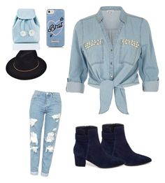"""""""Rock that denim look"""" by safiyat-aminu on Polyvore featuring River Island, VANELi, Topshop, Sugarbaby and Skinnydip"""