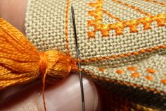 Great tips for neat construction  Simple cross-stitched pincushion tutorial @ CookOnStrike