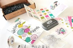 stamping techniques video tutorial by Natalie Elphinstone and unboxing of the Illustrated Faith Blessings or Lessons Devotional Kit featuring Stephanie Smokovich owner of Bella Blvd