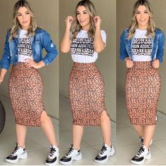 New Style Feminino Tenis 66 Ideas Chic Outfits, Trendy Outfits, Dress Outfits, Girl Outfits, Fashion Outfits, Womens Fashion, Dress Up, Pencil Skirt Outfits, Modest Wear