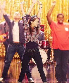 "Melissa performance in Glee 4x5 sing ""Born To Hand Jive"""