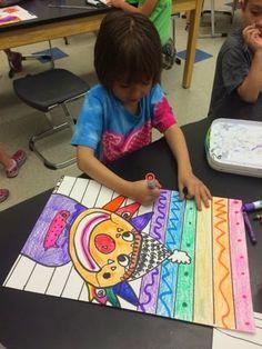 Kindergarten & 1st Grade rainbow clowns