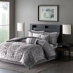 gray and silver comforter - Google Search