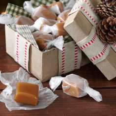 Creamy Caramels Recipe from Taste of Home -- Marcie Wolfe of Williamsburg, Virginia