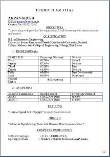 Latest Resume Models Sample Template Excellent Curriculum Vitae Cv
