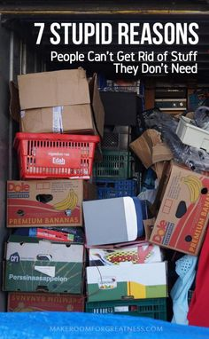 We all know people (maybe ourselves) who have a really hard time getting rid of things that they logically don't need! Here are some reasons this happens - recognizing the problem is half the solution, right? | life idea