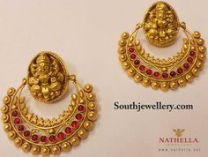 Traditional Lakshmi Earrings ~ Latest Jewellery Designs