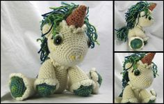 unicorn amigurumi - I printed the pattern all ready, but like this color combo for inspiration.