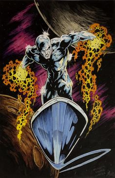 Silver Surfer by Mike Mez Phillips You are in the right place about Marvel Comics cute Marvel Comics Superheroes, Marvel Heroes, Marvel Comic Character, Marvel Characters, Comic Books Art, Comic Art, Surfer D'argent, Silver Surfer Comic, Marvel Fan