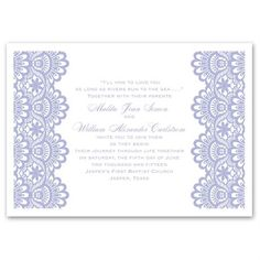 Invitations starting at 99¢! Shop Ann's Bridal Bargains for affordable wedding invitations with stylish designs like this Luxurious Borders Invitation.
