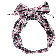 Navy Check Head Tie ($2.97) ❤ liked on Polyvore featuring accessories, hair accessories, hair, headbands, hats, bow headwrap, tie headbands, bow tie headband, stretchy headbands and head wrap headband