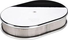 """NEW BILLET SPECIALTIES POLISHED ALUMINUM SMALL OVAL AIR CLEANER ASSEMBLY, 11 7/8"""" LONG X 8 3/8"""" WIDE X 3"""" TALL WITH K&N LIFETIME FILTER ELEMENT & STAINLESS STEEL HARDWARE Southwest Speed http://www.amazon.com/dp/B00XWPM300/ref=cm_sw_r_pi_dp_hojxvb1HBJBKE"""