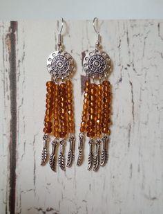 """Sr⊙⊙czka: Kolczyki ,,Boho spoko"""" / nr. 09 Drop Earrings, Boho, Jewelry, Fashion, Moda, Jewlery, Jewerly, Fashion Styles, Schmuck"""