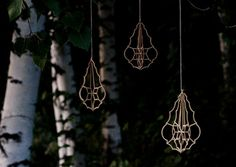 Small Medallion  Birch Crystals 2pack by ValonaDesign on Etsy, €24.00