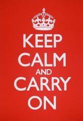 In WWII the King told the British to Be Calm with Keep Calm and Carry On posters. We stock Keep Calm and Carry On Home decor, gifts, accessories & more. Keep Calm Carry On, Frases Keep Calm, Keep Calm Posters, Blue Poster, Bulletins, The More You Know, Staying Positive, Birthday Greeting Cards, Marketing