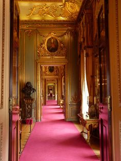 A hall at Blenheim Palace in Oxfordshire, England