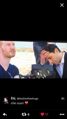 Mika and Andy shooting Staring At The Sun video