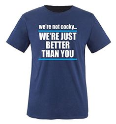 Comedy Shirts - WE'RE JUST BETTER... - children T-Shirt camiseta - marina / blanco-azul tamaño 110-116 #camiseta #starwars #marvel #gift