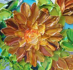 Fall Decor Impasto Oil Painting Original Oil von IronsideImpastos