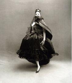 China Machado in Dior,1959.  Photographed by Richard Avedon.