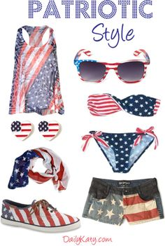 Patriotic Style {Get the look on DailyKaty.com}