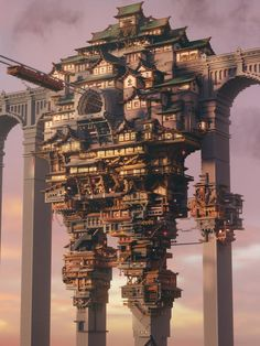A steampunkish minecraft build I made : gaming Minecraft Kunst, Minecraft Plans, Minecraft Medieval, Minecraft Blueprints, Minecraft Steampunk, Minecraft House Designs, Cool Minecraft Houses, Minecraft Buildings, Minecraft Castle