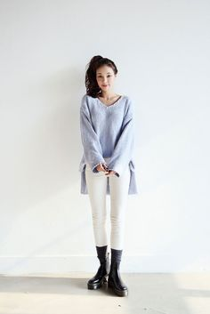Loose Knit Pastel Top