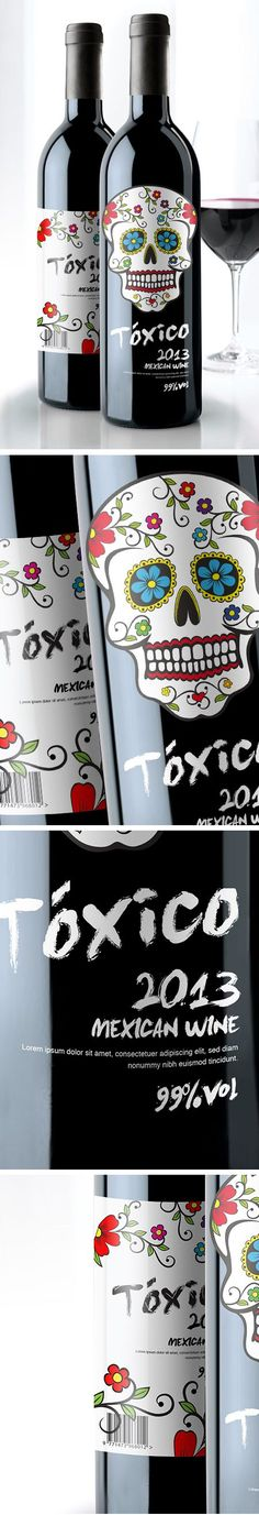 Tóxico - #Mexican #Wine #Packaging