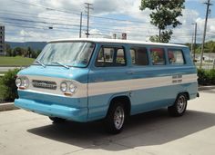 https://flic.kr/p/foCmy6 | greenbriar | Chevrolet Greenbriar Van, it's really riding on a Corvair chassis under all that.