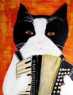 Accordion cat   pepeart