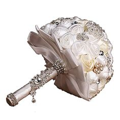 nice Engerla Handmade Crystal Diamond Pearl Rhinestone Brooch Bridal Hold Flowers Wedding Bouquet Brooch -100% Brand New and High Quality Rose Flower,Imitation Pearls Bouquet Diameter Size: about 7.8 inches,Length: about 10.6 inches -http://weddingdressesusa.com/product/engerla-handmade-crystal-diamond-pearl-rhinestone-brooch-bridal-hold-flowers-wedding-bouquet-brooch/