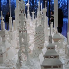 Lego towers from Olafur Eliasson'sThe Cubic Structural Evolution Project at the Dunedin Public Art Gallery.