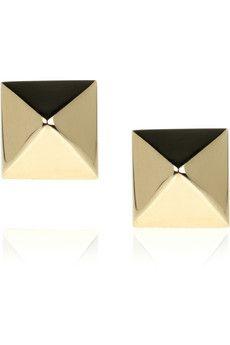 Anita Ko 14Karat gold stud earrings.