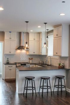 10 Self-Reliant Tips AND Tricks: Cheap Ikea Kitchen Remodel kitchen remodel bar butcher blocks.Cheap Kitchen Remodel Home Improvements kitchen remodel cost design.White Kitchen Remodel Tips. Kitchen Room Design, Kitchen Cabinet Design, Kitchen Layout, Home Decor Kitchen, Kitchen Interior, Home Kitchens, Kitchen Ideas, Ideas For Small Kitchens, Small Kitchen Designs