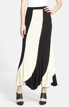 Jean Paul Gaultier Stripe Maxi Skirt available at #Nordstrom