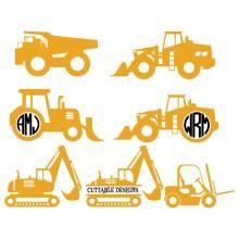 Trucks Monogram Svg Cuttable Designs