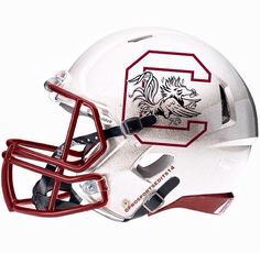 South Carolina (Prosportsedit14) Football Helmet Design, College Football Helmets, Football Uniforms, South Carolina Gamecocks Football, Helmet Logo, Custom Helmets, American Football, College Sport, Hard Hats