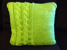 It's finished! I'm pretty proud of my cabled throw pillow cover. It's made using a super-bulky yarn for a quicker knit. I just l...
