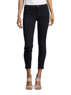 J BRAND Everleigh Mid-Rise Skinny Jeans. #jbrand #cloth #jeans