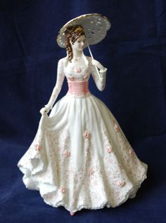 Royal Worcester's The Garden Party China Figurine Limited Edition No 428 / 7,500