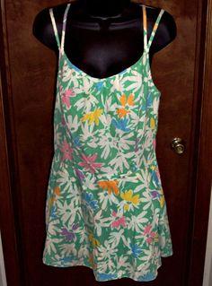 Gabar Women's Size 16 Bathing Suit Vintage Floral Swimsuit Wrap Skirt  ILGWU USA #Gabar #OnePiece