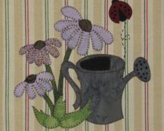 Summer Coneflowers Applique PDF Pattern for by quiltdoodledesigns