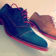 Great use of color in these men's dress shoes from Donald J. Pliner! ( woooohoo! Nice! I want them!)